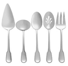 Vera Wang Wedgwood Surrey SERVING SET 5 Piece 18/10 Stainless Flatware New