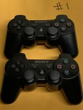 Lot (2) Pair Genuine Sony Playstation 3 PS3 DualShock 3 Controller OEM Black