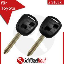 2 Stück Toyota Schlüssel Gehäuse Aygo Corolla Avensis RAV Auto Rohling TOY43 Neu