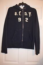 Abercrombie Kids Boys XL Zip Up Hoodie Sweatshirt muscle fit - Logo - EUC