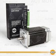 ACT1PC Nema23 Brushless DC Motor 57BLF03 24V 250W 3000RPM Single Shaft+1PC Drive