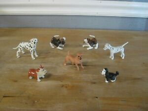 Mixed Breed Dogs For Dollhouse Realistic Plastic Resin Toys Doll Pets Animal 7