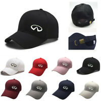 NEW INFINITI Car Logo Embroiderey Side Baseball Cap Dad Adjustable Sports Hat