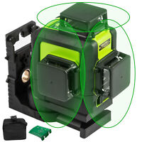 Rotary Laser Level 5//8//12 Line Green//Red Self Leveling 3D 360° 500M Tripod Staff