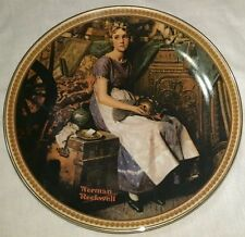 NORMAN ROCKWELL'S Rediscovered Woman - Dreaming In The Attic Plate-NIB