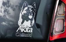Akita on Board - Car Window Sticker - American Inu Ken Sign Decal Gift Idea -V05