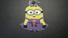 DESPICABLE ME JUST FOR GIRLS GIRL MINION BIRTHDAY PARTY EMBROIDERED PATCH