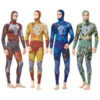 Camo 5mm Spearfishing Wetsuit for Men Scuba Free Diving Snorkeling Surfing Suit