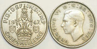 1947 to 1951 George VI Cupro-Nickel Scottish Shilling Your Choice of Date / Year