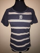 Detroit Tigers Antigua Women's MLB NWT Medium Navy/Heather Soft S/S Shirt