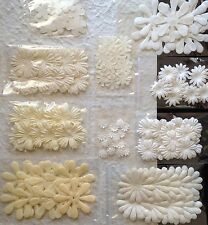 160 Flowers Petals Lot Assortment White Cream Handmade Mulberry Paper wedding 18