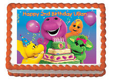 Barney Child Party Premium Edible Frosting Cake Topper