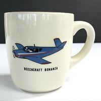 Beechcraft Bonanza Vintage Airplane Ceramic Gold-Rim w/Handle Coffee Cup Mug