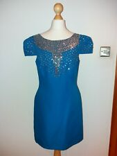 Bnwt NEW SIZE UK 10 MONSOON FUSION BLUE SEQUIN PARTY DRESS £70 L