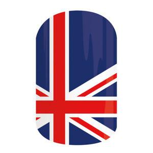 New JAMBERRY Nail Wraps UNITED KINGDOM UK British London Manicure FULL SHEET!