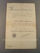 Urkunde zum Kreuz des preußischen Allgemeinen Ehrenzeichen, Juni 1914, 97804