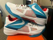 check out 2fb95 613c1 Nike KD 4 N7 WHITE (2012) AIR BASKETBALL SHOES KEVIN DURANT FOUR WHITE BLUE