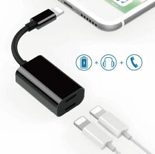 Splitter 8pin Adapter with Apple Audio Charger Adapter for iPhone XS XR X 8 7