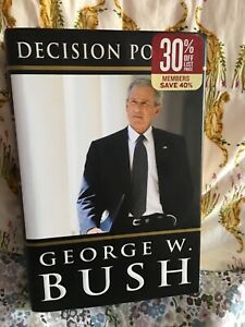 Preowned book, Decision points, George W.Bush, excellent- new condition