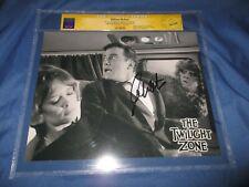 Twilight Zone Original Tv Series Cgc Ss Signed Photo by William Shatner