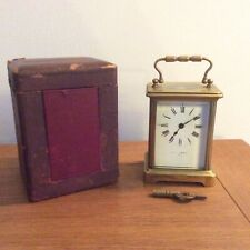 Quality Vintage Brass Carriage Clock By Mappin & Webb. Working Beautifully