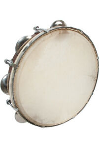 "10"" Tunable Pandeiro Sheesham Riq Goatskin Tambourine Percussion Pandeiro Riqq"