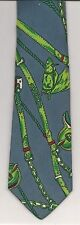 Tie, Gray Neiman Marcus Green HORSES SADDLES BRIDLES Blue Red White SILK Italy