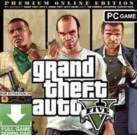GTA 5 PC Grand Theft Auto V Premium Online Edition ROCKSTAR KEY GLOBAL CHEAP