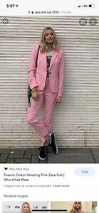 Zara Pink Suit Siz 8 Aus / 4 US