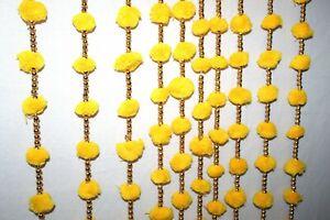 Wholesale Yellow Marigold Flower Pom Pom Garland 10 Pc Lot, Wedding Decoration