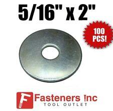 """(QTY 100 PCS) 5/16"""" X 2"""" Zinc Plated Fender Washers"""