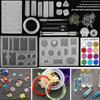 Resin Casting Silicone Molds Epoxy Spoon Kit Jewelry Making Pendant Craft 83pcs