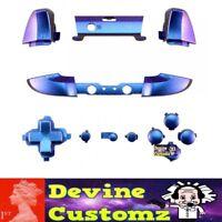 Xbox one S controller latest full button set kit custom Chameleon Purple Blue