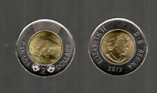 2017 POLAR BEAR DESIGN TOONIE  CIRCULATION COIN FROM THE ROLL   MINT COND