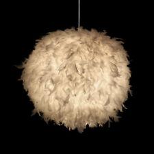 Modern White Feather Ball Droplight Romantic Pendant Lamp Light Ceiling Decor