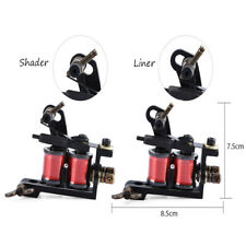 Pro 2pcs Iron Handmade Tattoo Machine Guns for Liner Shader Supply with Wrenches