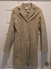 Wet Seal Vintage 90's Suede leather jacket  tan trench coat duster patchwork S