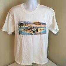 Walt Disney World Mens T-Shirt 100% Cotton Large Micky Mouse Just Chillin FS!