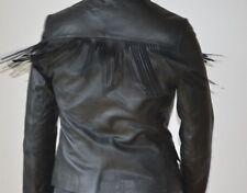 Zadig & voltaire deluxe agneau cuir frange veste taille s 8 neuf authentique