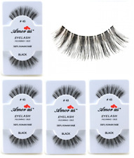 6 Pairs AmorUs 100% Human Hair False Eyelashes # 43 compare Red Cherry