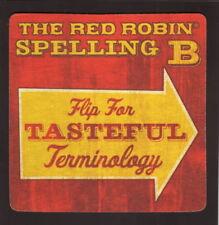 Red Robin--Spelling B Coaster