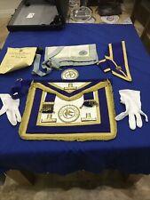 Vintage Masonic apron Gloves Ect Job Lot