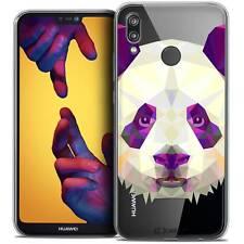 "Coque Housse Etui Pour Huawei P20 LITE (5.84"") Polygon Animal Souple Fin Panda"