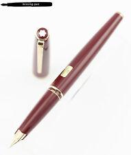 Montblanc Classic Fountain Pen Bordeaux Red Gold 14K EF-nib No. M13100 / crack