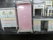 DOLLHOUSE BEDROOM SET- SINGLE BED- 5-PC.