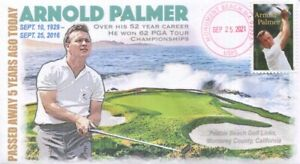 COVERSCAPE computer designed 5th passing of PGA legend Arnold Palmer event cover