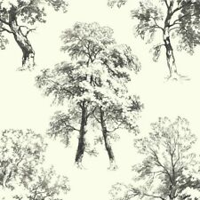"""York Wall coverings Ashford Toiles 27' x 27"""" Floral Trees Wallpaper Roll"""