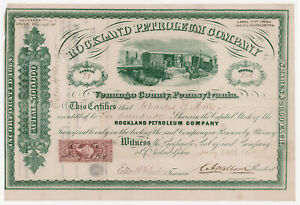 1864 Rockland Petroleum Company Stock Certificate Venango County PA 200 Shares