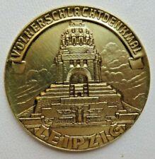 Münze Medaille * Völkerschlachtdenkmal Leipzig * Gußplatte 7cm