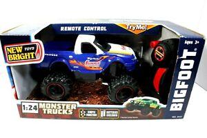 NIB Bigfoot Monster Trucks 1:24 Scale R/C Remote Control Toys Firestone 4x4